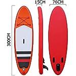 DIMPLEYA-SUP-SUP-Paddle-Board-Bordo-Intorno-Gonfiabile-Pala-con-Accessori-Rosso-Dimensione-300x76x15cmRosso300x76x15cm