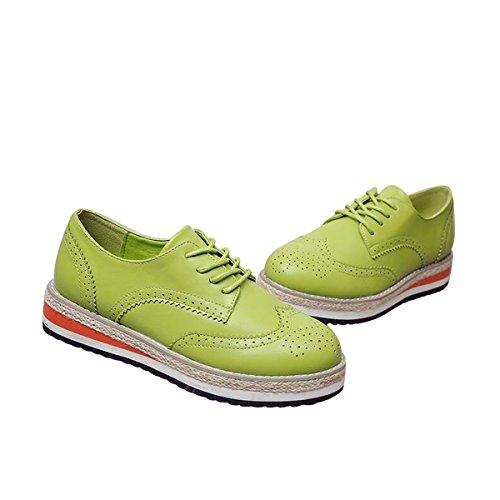 Geachte Tijd Creepers Brogue Schoenen Snoep Kleuren Vintage Oxfords Platform Sneakers Groen