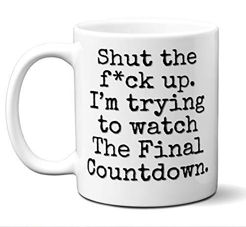 The Final Countdown Gift Mug. Funny Parody Movie Lover Fan