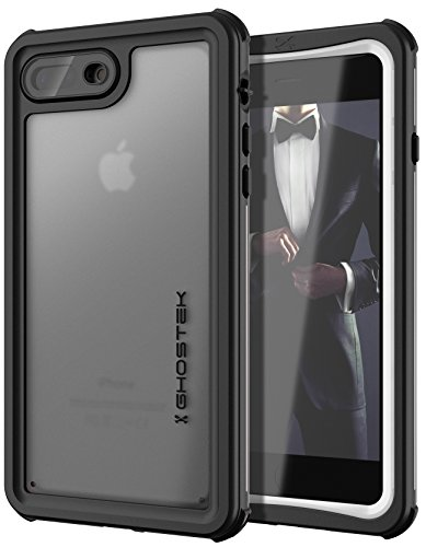 Ghostek Nautical Waterproof Case Compatible with Apple iPhone 8 Plus & 7 Plus - White