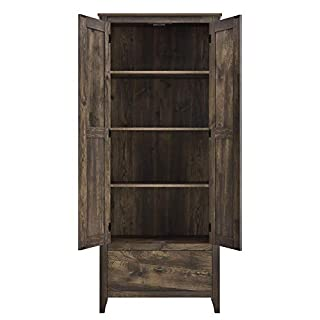 "Ameriwood Home Farmington Wide Storage Cabinet, 30"", Rustic (B0779P35RG) 