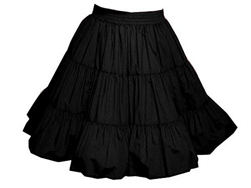 Western Style Dance Costumes (3-Tier Solid Color Western Style Square Dance Skirt)