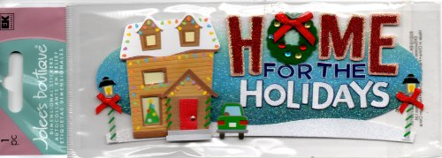 Sticko & Jolee's Boutique Title Wave Sticker: Home For The Holidays