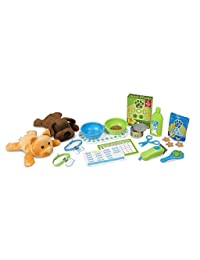 Melissa & Doug 18551 Feeding & Grooming Pet Care Play Set with 2 Plush Animals, 24 Pieces