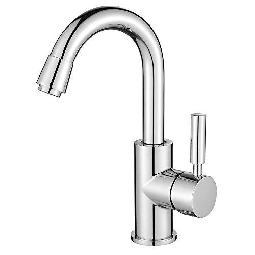 Homelody® 360° drehbar Chrom Spültischarmatur Wasserhahn KüchenarmaturWaschtisch Mischbatterie Spüle Armatur Wasserkran für Küchen/Bad