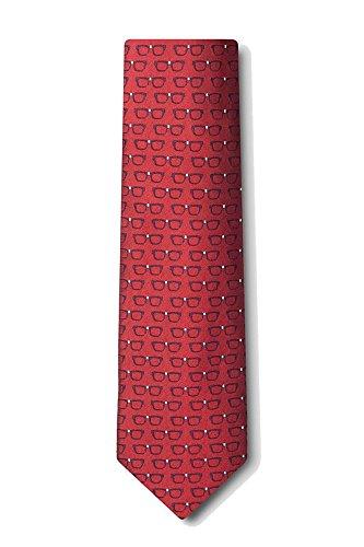 Mens Red Eye Glasses Four Eyes Optometrist Tie Necktie