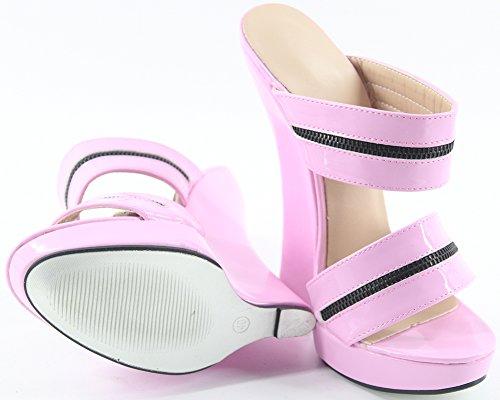 Slip Wedge Plateforme On Heel High Pink Femme Wonderheel Sandales 7
