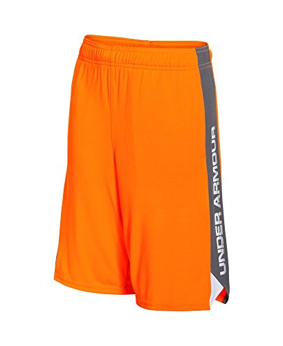 Under Armour Boys' Eliminator Shorts, Traffic Cone Orange (924), Youth Small
