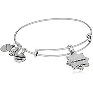 Alex and Ani Healing Love II Bangle Bracelet, Rafaelian Silver, Expandable