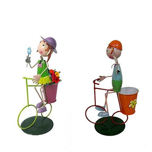 Casal de Bonecos com Bicicleta para Enfeitar Decoracao Jardim (bon-m-13)