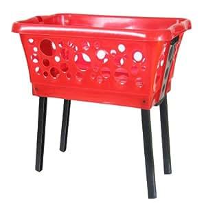 Top Hit 236096 - Cesta de la colada con patas plegables, color rojo