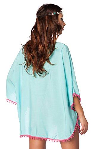 ILAVO® Transparente Tunika - mit farblich abgesetzten Borten verziert