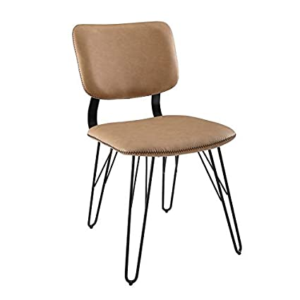 Amazing Amazon Com Pemberly Row Flax Back Accent Dining Chair In Pabps2019 Chair Design Images Pabps2019Com