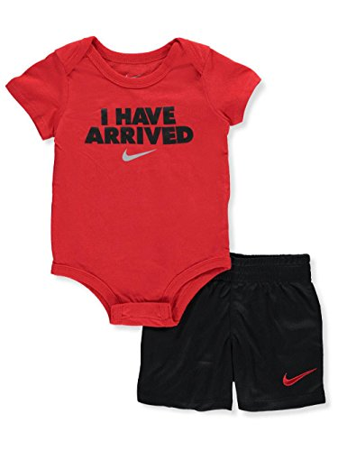 Price comparison product image NIKE Baby Boys' 2-Piece Short Set Outfit - Black, 3-6 Months