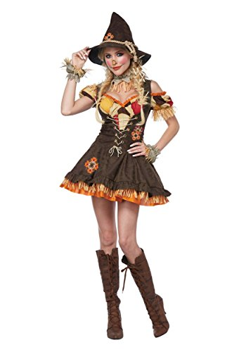 California Costumes Women's Sassy Scarecrow Adult Woman Costume, Brown,