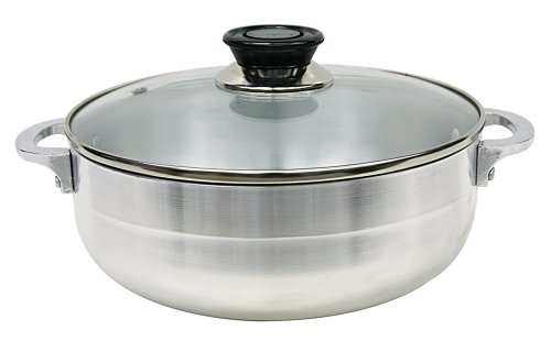 Trading Corp Oven (Home Basics HDS Trading Stock Pot with Glass Lid, 7.5-Inch, Silver)