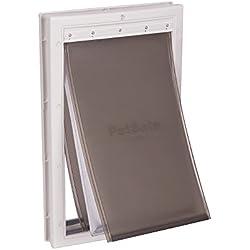 PetSafe Extreme Weather Energy Efficient Pet Door, Unique 3 Flap System, White, for Large Dogs Up to 100 lb.