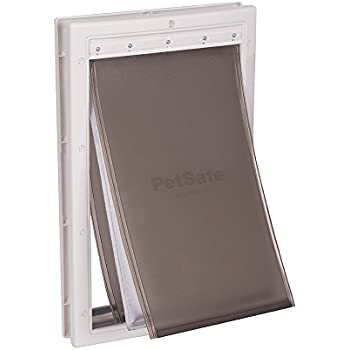 Petsafe Extreme Weather Energy Efficient Pet Door Unique 3 Flap System White For Dogs And Cats