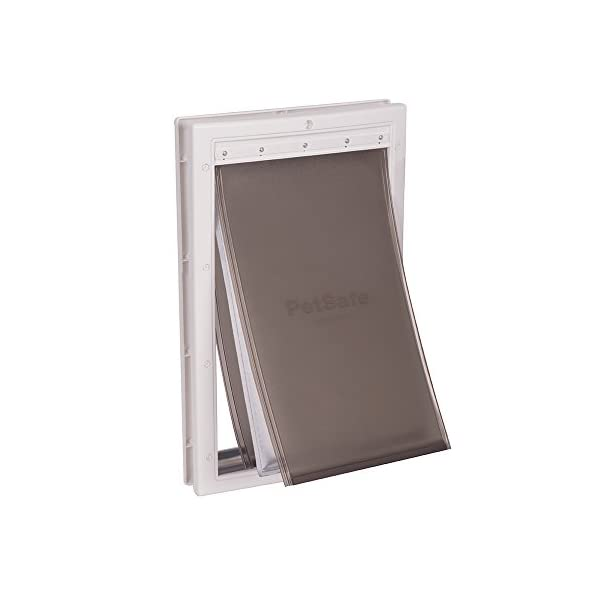 PetSafe Extreme Weather Pet Door, Energy Efficient Pet Door for Dogs and Cats, Large, for Pets Up to 100 Lb.