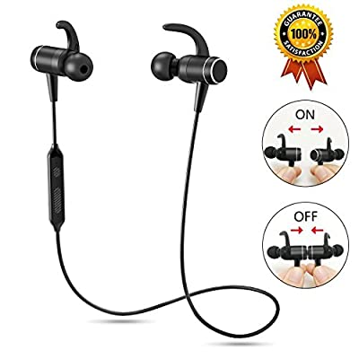 Bluetooth Headphones, OldShark Wireless Sports Earphones in Ear Earbuds, IPX6 Splashproof, aptX Stereo, Magnetic Aluminum Design, CVC 6.0 Noise Cancelling Mic