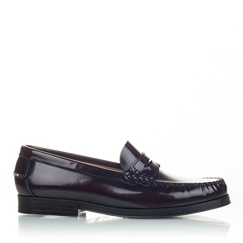 Castellanisimos Leather Moccasins with Mask Elegant and Comfortable Classic Shoes Bordeaux
