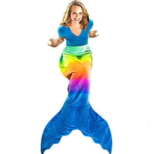 Blankie Tails Mermaid Tail Blanket (Adult/Teen Size) (Rainbow Ombre - New!)