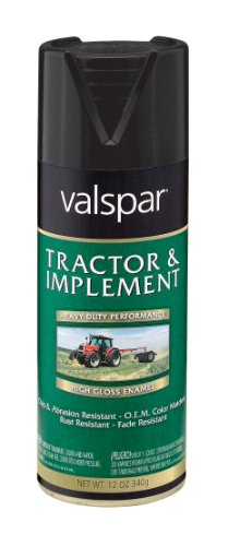 Valspar 5339-16 Gloss Black Tractor and Implement Spray Paint - 12 oz. (Black Tractor)