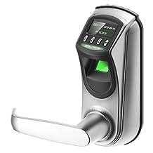 ZKTeco L7000U OLED Display Keyless Biometric Fingerprint Door Lock Fingerprint + Password+ Key(Support Query Door Open Logs & USB Flash Disk)