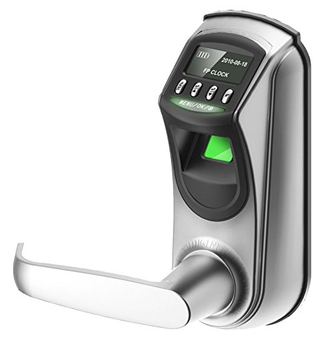 ZKTeco L7000-U OLED Display Keyless Biometric Fingerprint Door Lock Fingerprint + Password+ Key(Support Query Door Open Logs & USB Flash Disk)