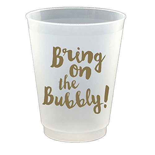 Slant Collections Bring on the Bubbly Flex Frosted Plastic Cups Set of 8