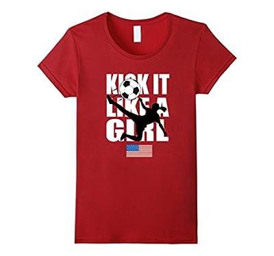 KICK IT LIKE A GIRL SHIRT | American Flag Soccer Shirt