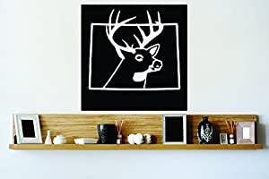 Peel & Stick Wall Decal Sticker : Colorado Wild Life Deer Buck Hunter Decor Bedroom Bathroom Living Room Picture Art Vinyl Mural - DISCOUNTED SALE Size: 18 Inches X 18 Inches - 22 Colors Available