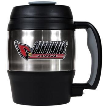 NFL Arizona Cardinals 52-Ounce Stainless Steel Macho Travel Mug with Bottle Opener