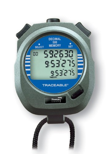 Thomas 1031 Traceable ABS Plastic Decimal Stopwatch with Triple Display, 0.0005 Percent Accuracy, 3