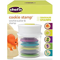 Chef'n Cookie Cutter and Stamp, Dinosaur Shapes
