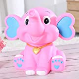 NOMSOCR Cute Elephant Piggy Bank Coin Bank Saving Pot Money Box for Kids Birthday Gift Christmas Home Decor (Pink)