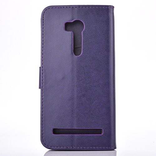 Asus ZenFone Go ZB452KG Case, Asus ZenFone Go ZB452KG TPU Leather Case Cover [Gray], Cozy Hut Elegant Butterfly Rose Patterned Embossing PU Leather Stand Function Protective Cases Covers with Card Slo Purple Campanula