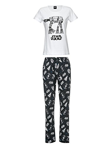 Pyjama Guerre Etoiles TB TT pour dame coton noir blanc