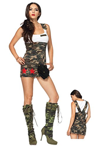 [JJ-GOGO Combat Cutie Ladies Sexy Army Fancy Dress Costume] (Combat Costumes Women)