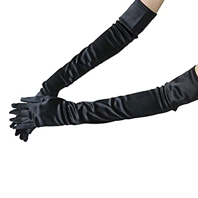 Dress Gloves, Costumes Gloves, WITERY Full Finger Stretchy Satin Party Fancy Dress Accessory / Bridal Wedding Gloves / Prom Dress Gloves Costumes Gloves For Ladies Women