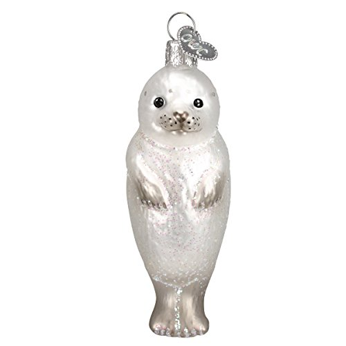 Old World Christmas Ornaments: Seal Pup Glass Blown Ornaments for Christmas Tree