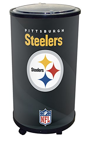NFL Pittsburgh Steelers Ice Barrel Cooler, Black, 19'' by GLAROS