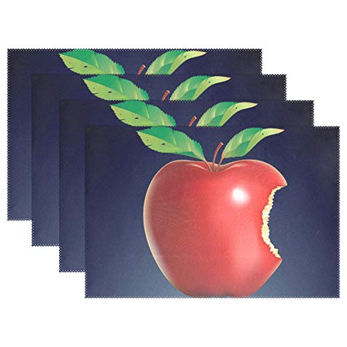 - Jojogood Bitten Apple Placemat Dining Table Mat 12