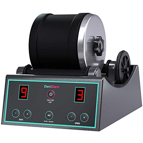 Dan & Darci Advanced Professional Rock Tumbler Kit - with Digital 9-Day Timer and 3-Speed Settings - Turn Rough Rocks into Beautiful Gems