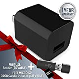 2018 LDPspy USB Charger Camera 32GB Included - spy cam Charger - Hidden Surveillance Camera - No WiFi