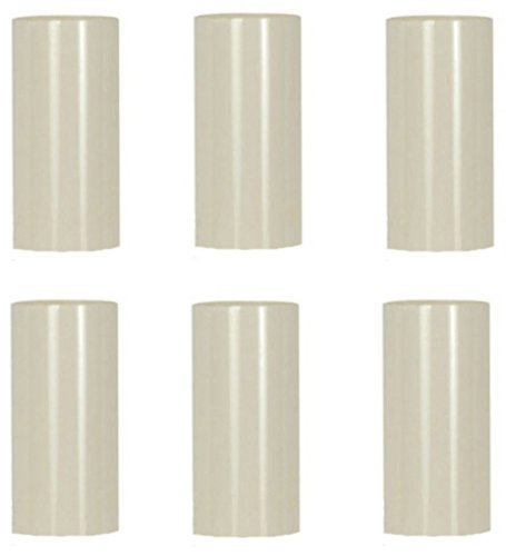 - Creative Hobbies 2 Inch Tall Cream Plastic Candle Covers Sleeves Chandelier Socket Covers - Set of 6 - Candelabra Base
