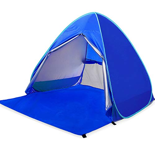 Amagoing Automatic Pop up Beach Tent 2-3 Person Cabana Sun Shelter Great Outdoor Activities Beach Traveling (Gem (Pop Up Dome Tent)