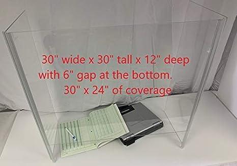 24 x 32 Countertop Plexiglass Protection Screens
