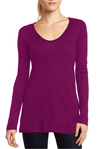 Bobi Light Jersey Long Sleeve Scoop Neck Tee  Medium  Maui Wowi