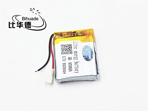 BIHUADE 3.7V 803035 800mah Polymer Lithium Battery for MP4 GPS MP3 Bluetooth Stereo DIY Gift